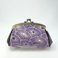 4.1寸くし親子財布 菊づくし紫