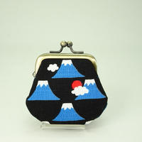 1.8寸豆小銭入れ  富士山 黒色