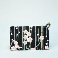 名刺カードケース 竹と梅黒