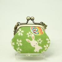 1.2寸豆角 レトロ うさぎ 桜 緑色