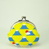 2.6寸丸小銭入れ 富士山 黄色