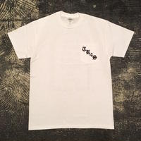 "【 tr.4 suspension 】""TR4S SKATE"" POCKET S/S TEE ( WHITE )"