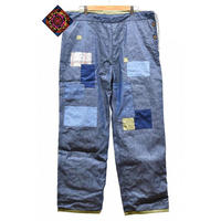 【 ARIGATO FAKKYU 】PAINTER / CHINO PANTS ( DENIM / GREEN )