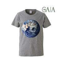 "【 ARIGATO FAKKYU 】""GAIA"" PRINTED T-SHIRT ( #2 HEATHER GRAY )"