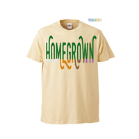 "【 ARIGATO FAKKYU 】""HOME GROWN"" PRINTED T-SHIRT ( #4 NATURAL )"