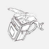 【STICKER-S SIZE】CATS IN THE BAG 05