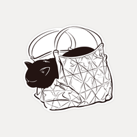 【STICKER-S SIZE】CATS IN THE BAG 04