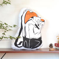 【CUSHION】Japanese Bobtail × Backpackのクッション
