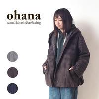 ohana オハナ ウール混ストライプフードジャケット FREEサイズ 19091136