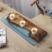 無垢材と樹脂茶盤 PJ001