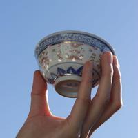 染付描金玲瓏茶杯 PQ211