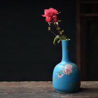 手描き粉彩扒花花瓶 PC049