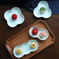 青白磁お皿 豆 PS012