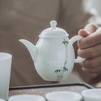 手描き茶壺 竹 PG003