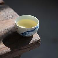 染付茶杯 八大山人 鱼 PG044