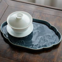 海波長茶盤 PG077