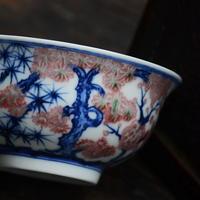 手描き茶杯 松竹梅紋 PC004