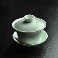 青白磁蓋碗 山水 PC023