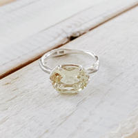 Branch ring 09 lemon quartz