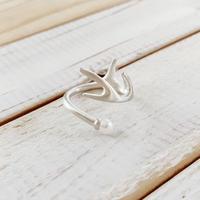 Deer ring R pearl