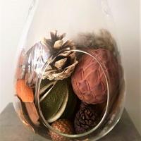 ハンギングガラス&木ノ実アソートのセット(S)Orange/Pink