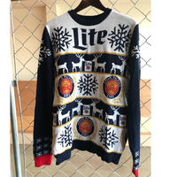 miller Lite adovertising knit