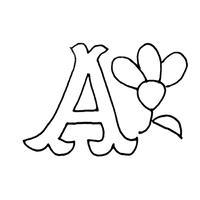 東欧刺繍アルファベット  A. 〜  無料ダウンロード