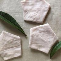 植物染めのコースター【枇杷/木綿】