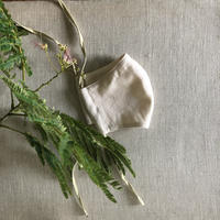 【柘榴洋裁店】植物染めマスク  <ねむのき>