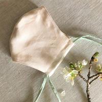 植物染め布マスク【山桜に蓬】