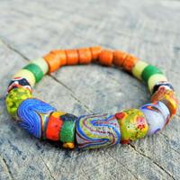 沙滔舞琉璃珠工作室*パイワン族のアンティーク加工ブレスレット