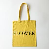 FLOWER TOTE BAG 薄手のイエロー