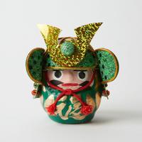 甲冑達磨ミニ / 緑 Samurai Armor Daruma