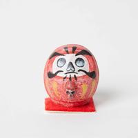豆だるま / ドクロ Mini Daruma Red Skull