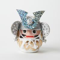 甲冑達磨ミニ / 白 Samurai Armor Daruma