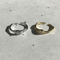 【ゆうパケ対象】silver925 Cubic zirconia Design ring