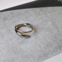 【ゆうパケ対象】two‐tone cross ring