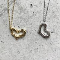 silver925 heart motif necklace