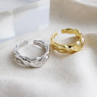 【ゆうパケ対象】silver925 wave design ring