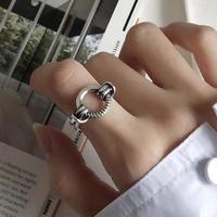 【ゆうパケ対象】silver 925 vintage circle ring