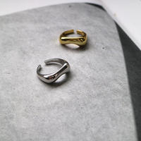 silver925 歪みring