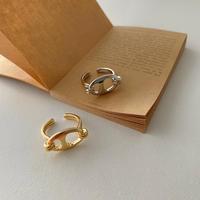 silver入荷【ゆうパケ対象】変形プレート ring