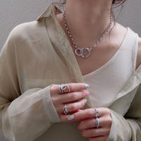 silver入荷【ゆうパケ対象】 ring chain necklace