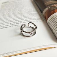 【ゆうパケ対象】silver925 4連chain ring