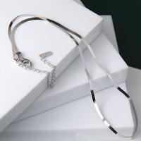 【ゆうパケ対象】silver925 snake chain necklace