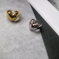 silver925 heart design ring