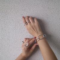 silver入荷【ゆうパケ対象】メタルチェーンデザインバングル
