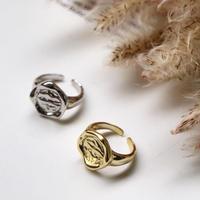 【ゆうパケ対象】 silver925 歪みcircle ring