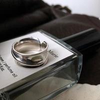 【ゆうパケ対象】silver925 line wide ring