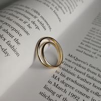【ゆうパケ対象】silver 925 double line ring